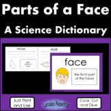 Parts of a Face Color, Cut and Glue Science Dictionary