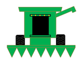 Farm Combine Cut and Paste Craft Activity! Practice shapes and fine motor skills
