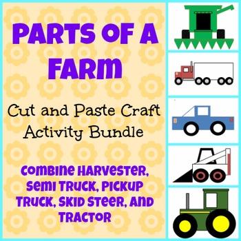 Parts of a Farm Cut and Paste Craft Activity Bundle