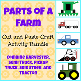 Farm Cut and Paste Craft Activity Bundle! Practice shapes and fine motor skills!