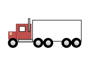 Farm Semi Truck Cut and Paste Craft Activity!  Practice shapes and fine motor!