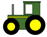 Farm Tractor Cut and Paste Craft Activity!  Learn shapes and fine motor skills!