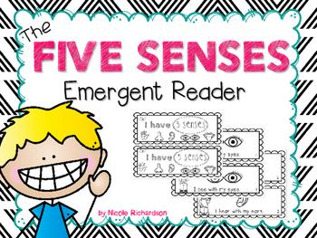 The Five Senses  ~ Emergent Reader