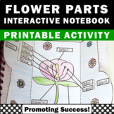Parts of a Flower Labels, Foldable Science Interactive Notebook Plant Activities