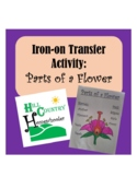 Parts of a Flower Science T-shirt Apron Iron-on Transfer Activity