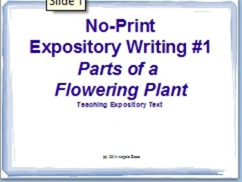 No-Print Lesson: Parts of a Flowering Plant - Expository W