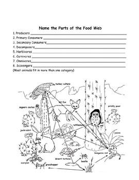 Parts of a Food Web