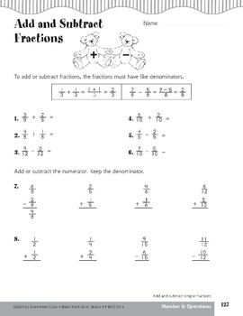 Parts of a Fraction (Add/Subtract Simple Fractions)