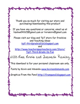 Friendly Letter Song By Tgif Third Grade Is Fun Tpt