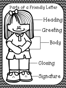 Parts Of A Friendly Letter Anchor Charts Letter Templates For The Year