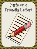 Parts of a Friendly Letter Anchor Charts/Letter Templates