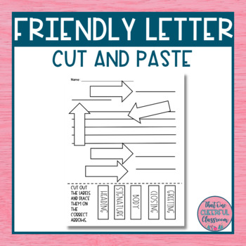 Parts of a Friendly Letter Cut & Paste