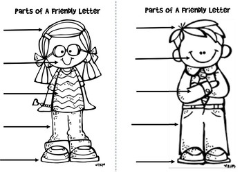 Parts of a Friendly Letter - Interactive Notebook