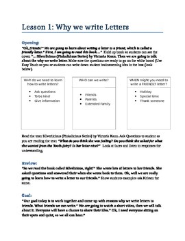 Parts of a Friendly Letter Lesson