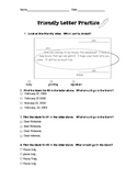 Parts of a Friendly Letter Worksheet/ Test for 2nd/3rd/4th Grade