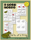 Parts of a Frog 3-Part Cards, Book Making Masters, and Par