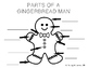 Parts of a Gingerbread Man & Woman - Tracing & Writing Options (freebie)