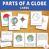 Parts of a Globe Geography Montessori Cards