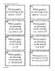 Parts of a Graph Task Cards Activity~ 10 Graphs ~ 46 cards