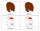 Parts of a Grizzly Bear Three Part Cards