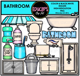 Parts of a House~Bathroom Clip Art Bundle {Educlips Clipart}
