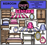 Parts of a House~Bedroom Clip Art Bundle {Educlips Clipart)