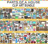 Parts of a House Clip Art GROWING BUNDLE