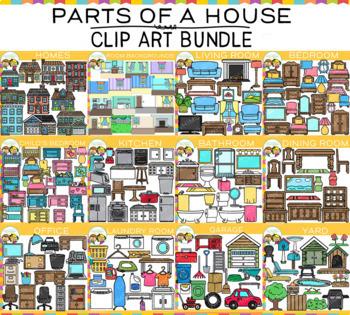 Parts of a House Clip Art Bundle