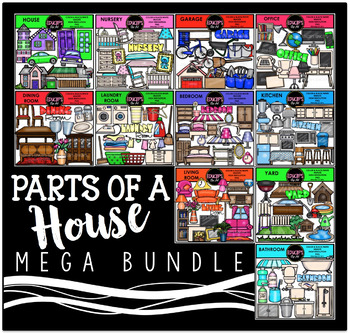 Parts of a House Clip Art Mega Bundle {Educlips Clipart}