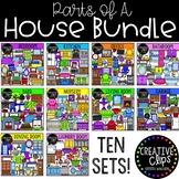 Parts of a House Clipart Bundle {Creative Clips Clipart}