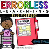 Parts of a House Errorless Learning File Folder Activities