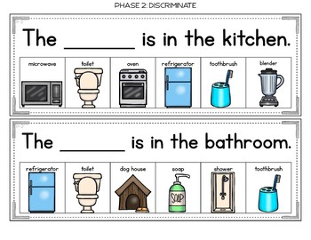 Parts of a House Errorless Writing Sentence Helpers