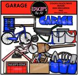 Parts of a House~Garage Clip Art Bundle {Educlips Clipart}