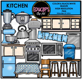 Parts of a House~Kitchen Clip Art Bundle {Educlips Clipart}