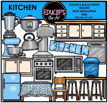 Parts of a House~Kitchen Clip Art Bundle {Educlips Clipart}