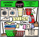 Parts of a House~Laundry Room Clip Art Bundle {Educlips Clipart}