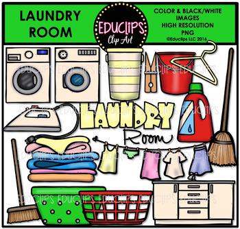 Parts of a House~Laundry Room Clip Art Bundle {Educlips Clipart}