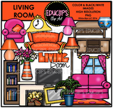 Parts of a House~Living Room Clip Art Bundle {Educlips Clipart}