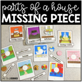 Parts of a House Missing Pieces Task Box   Task Boxes for Special Education