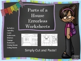 Parts of a House Worksheets