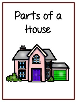 Parts of a House Writing Word Thematic Folder - Picture Word Wall