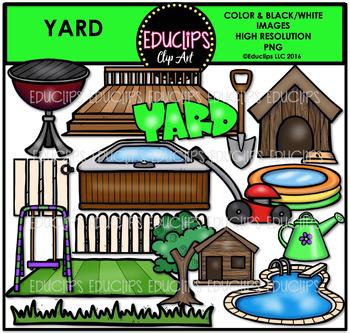 Parts of a House~Yard Clip Art Bundle {Educlips Clipart}