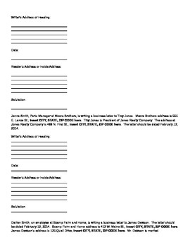 Parts of a letter technical writing by edge edtech tpt parts of a letter technical writing altavistaventures Image collections