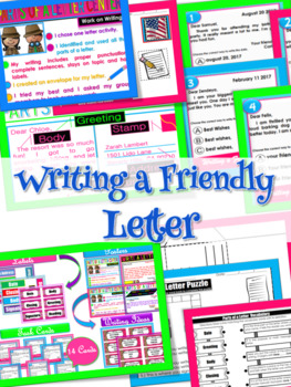 Parts of a Letter (Friendly Letter Writing Center)
