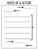 Parts of a Letter Activity