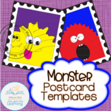 Parts of a Letter Monster Postcard Templates