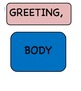 Parts of a Letter, Postcard, & Envelope Vocabulary, Clipart, and Blank Templates