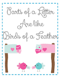 Parts of a Letter are like Birds of a Feather