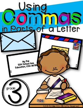 Parts of a Letter with Commas {2nd-4th Grade Standards}