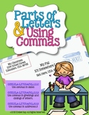 Parts of a Letter with Commas {CCSS}